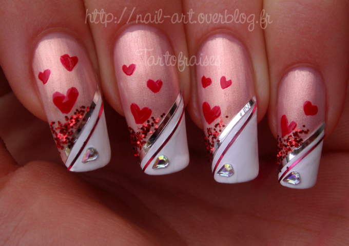 14 Valentine's Day Nail Art Designs Images