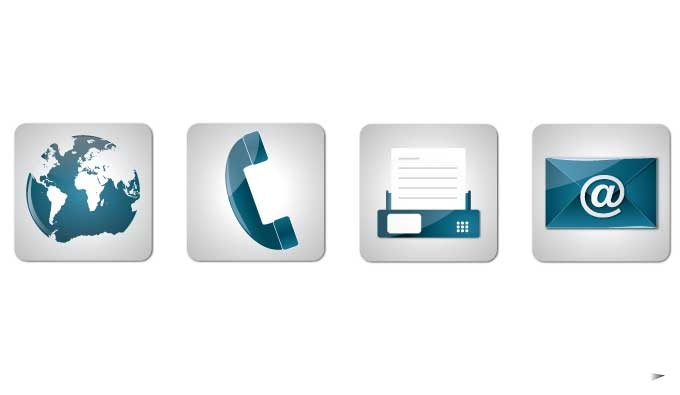Vector Contact Icons for Phone