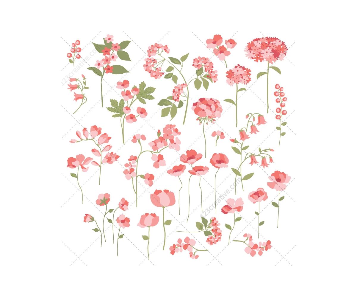 18 Summer Flower Vectors Images