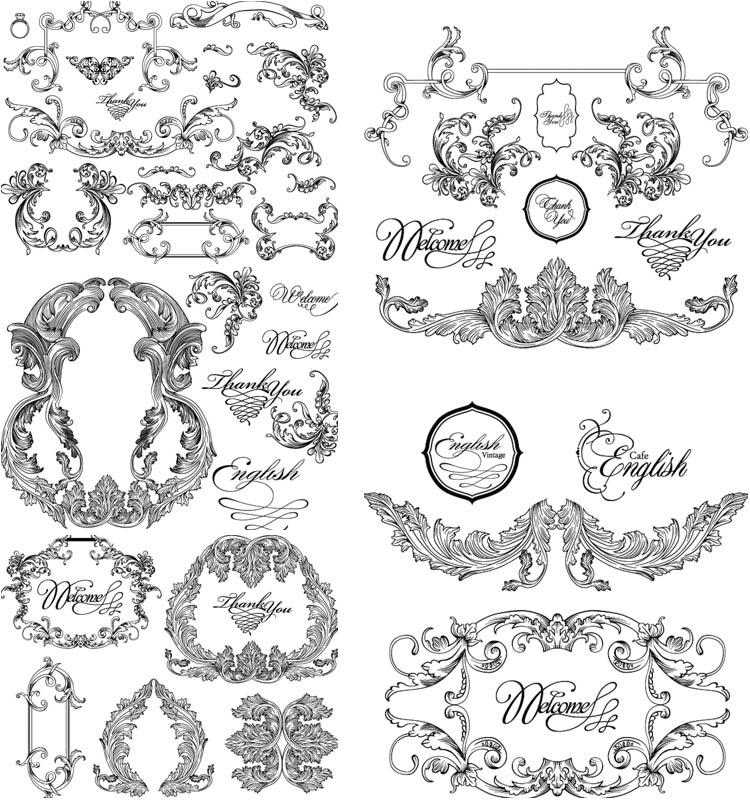 Vintage Baroque Frames Vectors Free