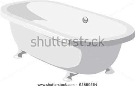 Vintage Bath Tub Vector
