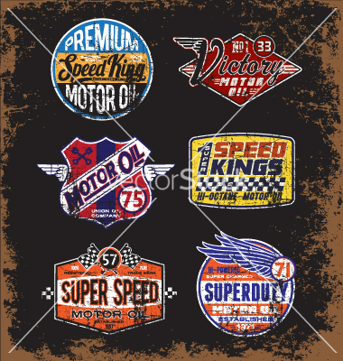 Vintage Motor Oil Labels