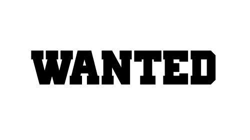 Wanted in Old School Font