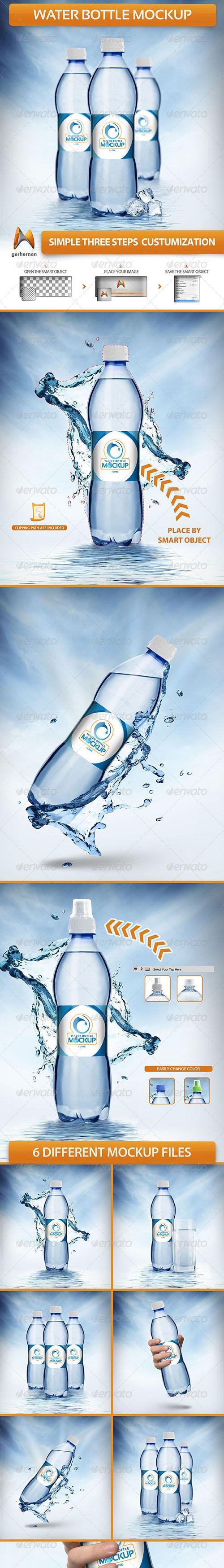 Water Bottle Mockup Template Free