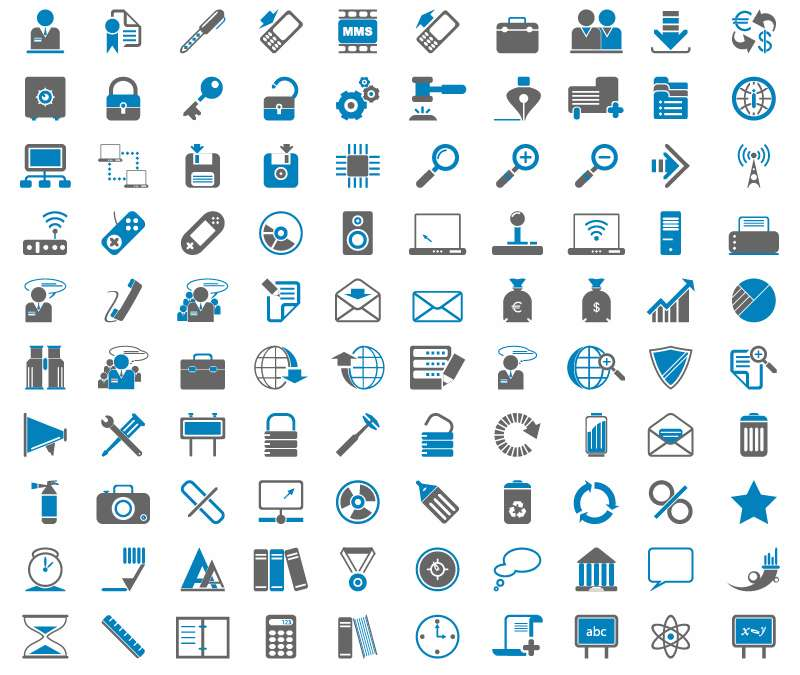 60+ free icons download sites.