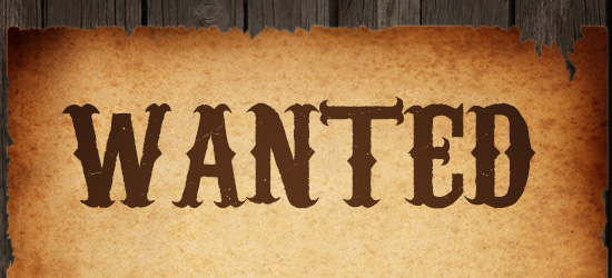 Western Wanted Font Word