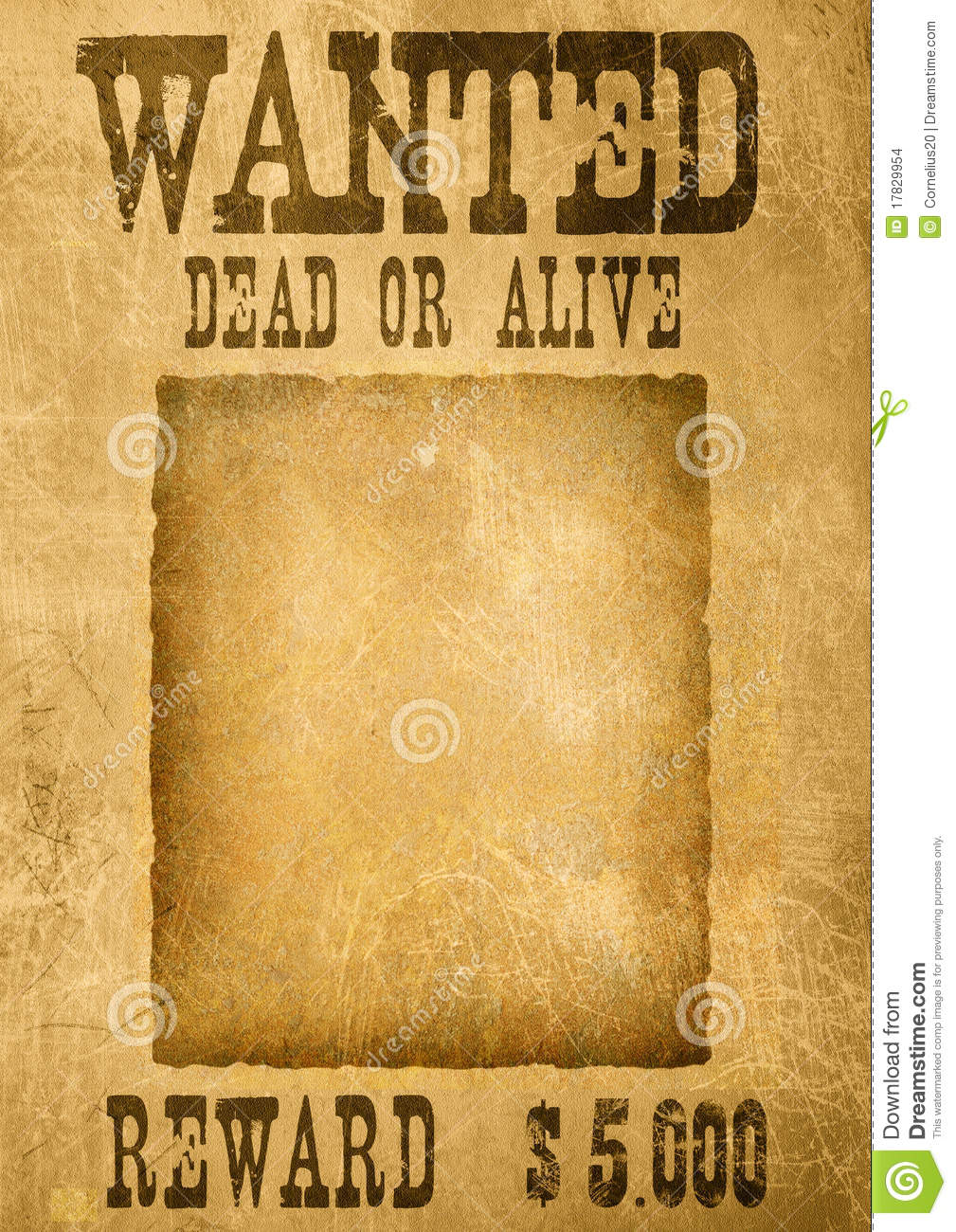 Blank Wanted Poster Template  Most Wanted Poster Templates