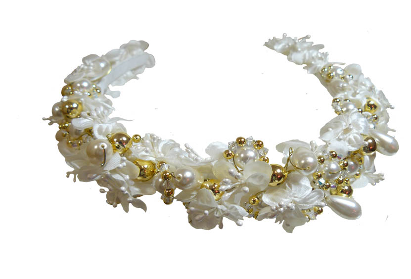 White and Gold Tiara