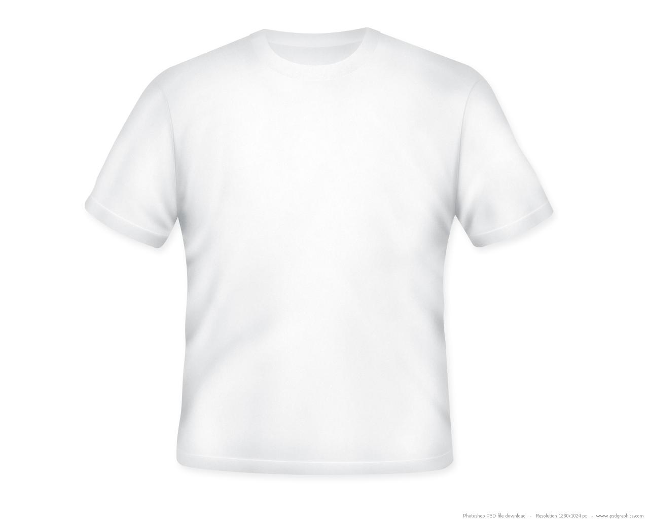 White T-Shirt Template