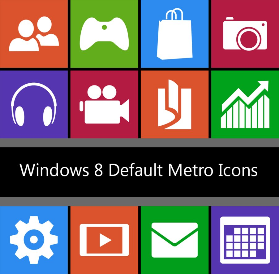 Windows 8 Default Metro Icons