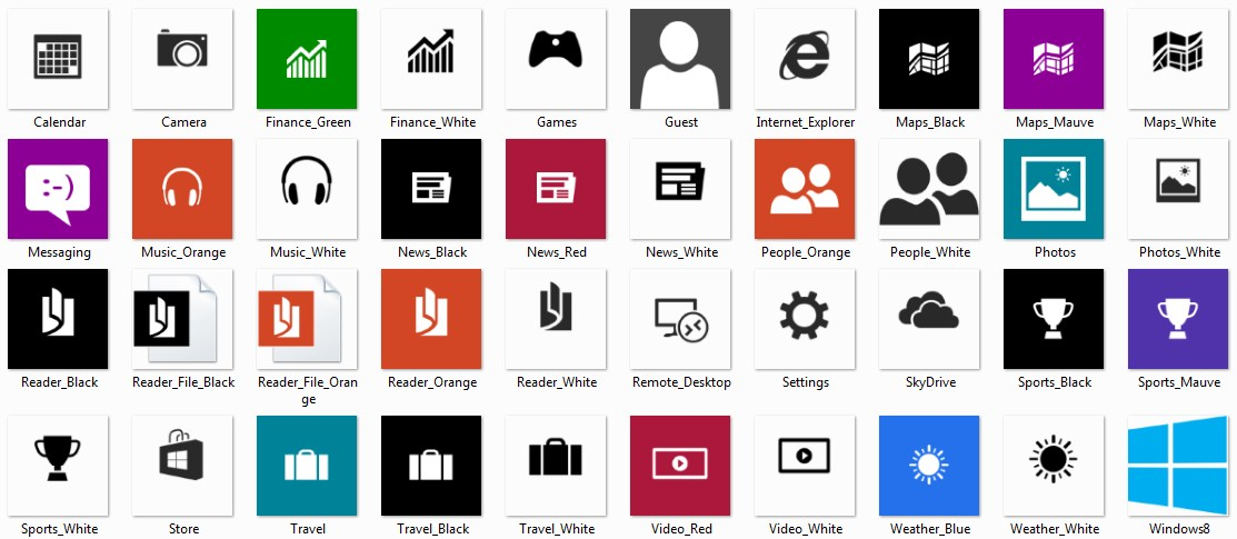 18 Windows Phone 8 Icon Pack Images