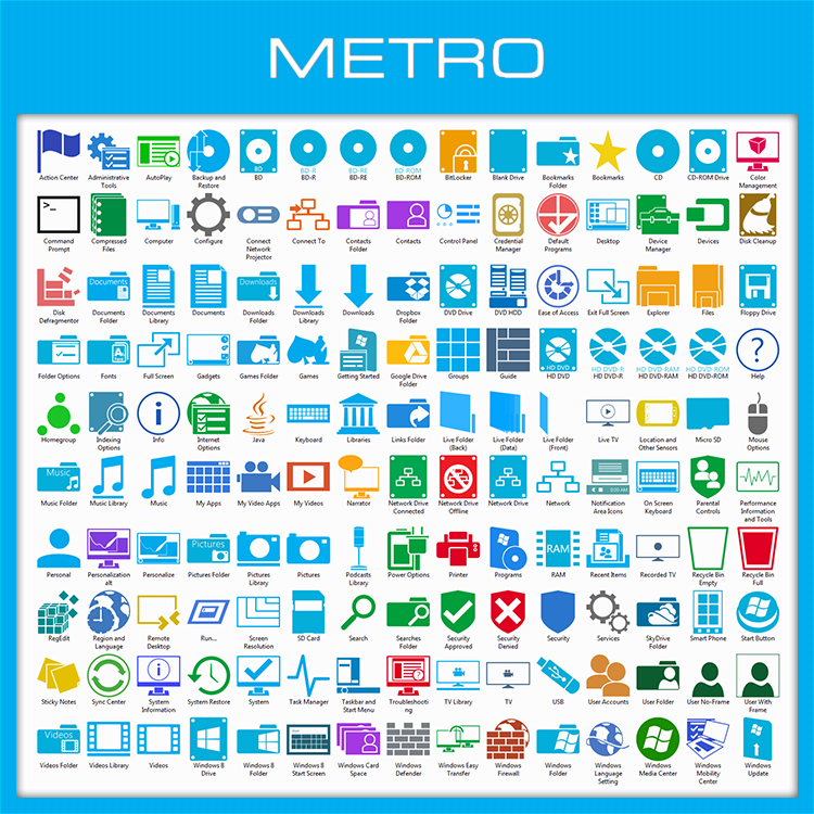 Windows 8 Metro Icon Pack