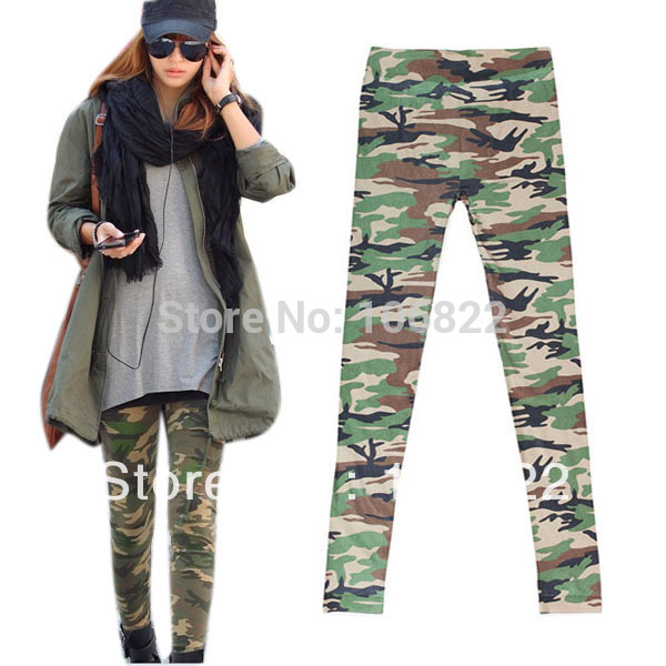 Women Camouflage Stretch Pants