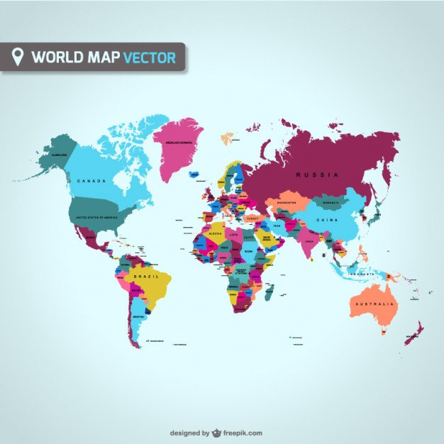 12 Vector World Map With Countries Images