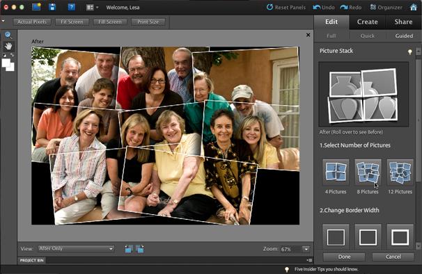 Используйте программное обеспечение adobe photoshop elements 1 редактируйте, улучшайте и находите фотографии