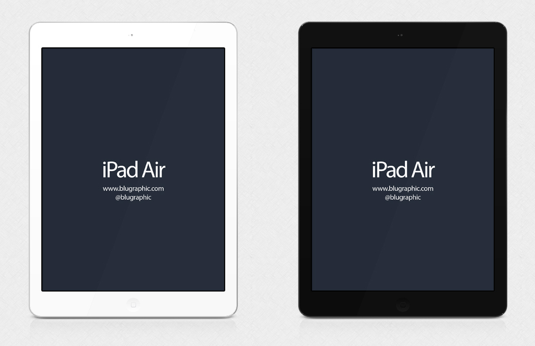 11 Air IPad PSD Mockup Images