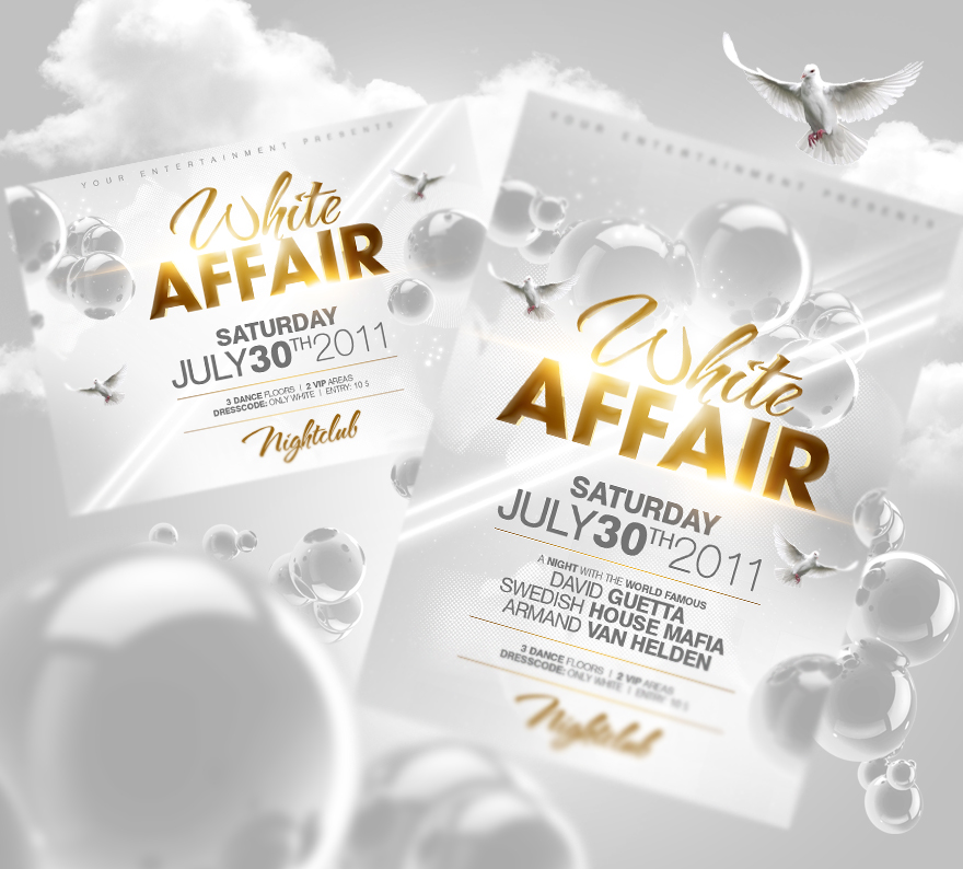All White Affair Party Flyer Template