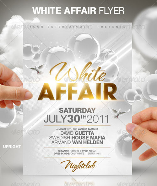 All White Affair Party Flyer