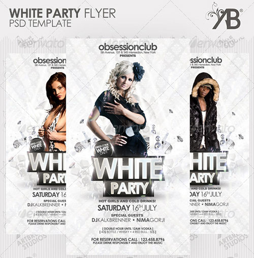 19 White Party Flyer Psd Images All White Party Flyer Templates