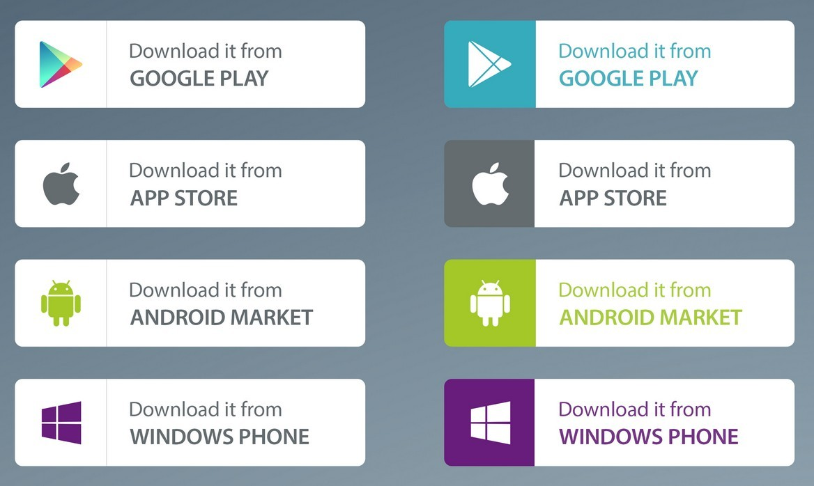 Android Google Play App Download Button