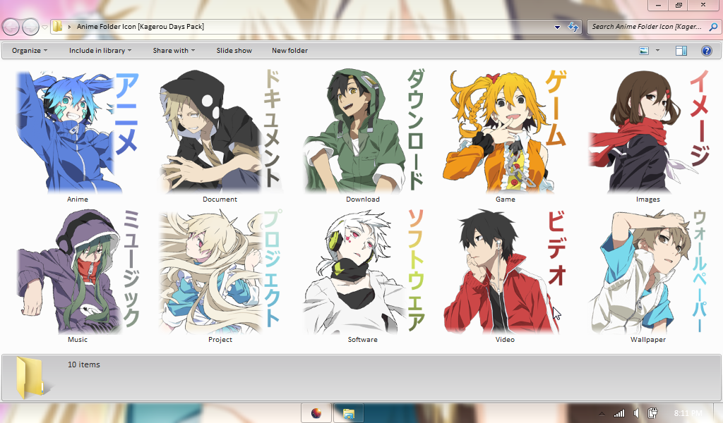 Anime Folder Icon Pack
