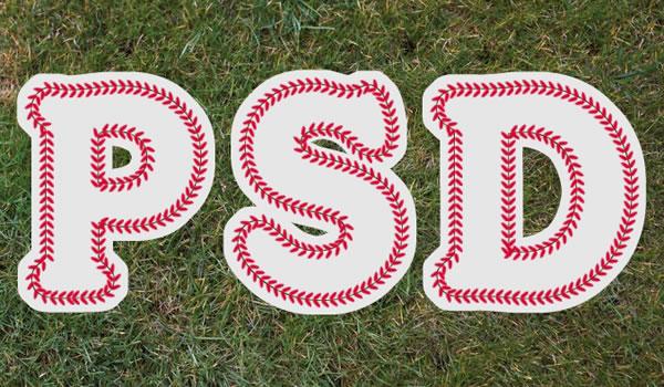 Baseball Text Photoshop Tutorial