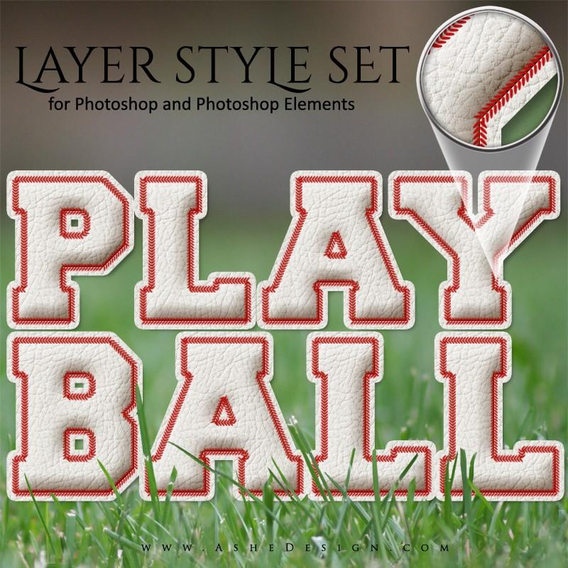 Baseball Text Photoshop