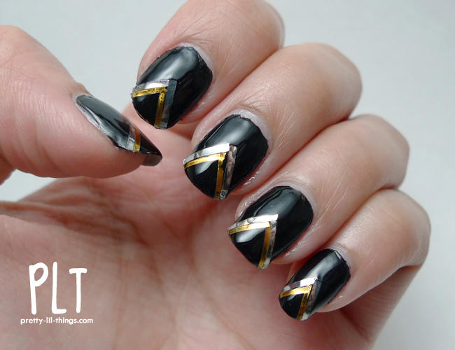 Black And Silver Nail Art Designs