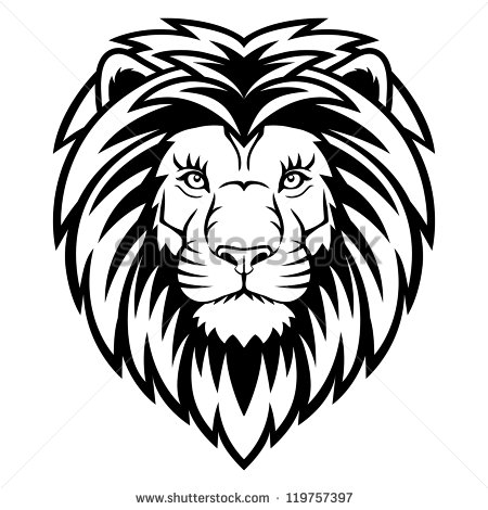 12 Black And White Lion Logo Vector Images