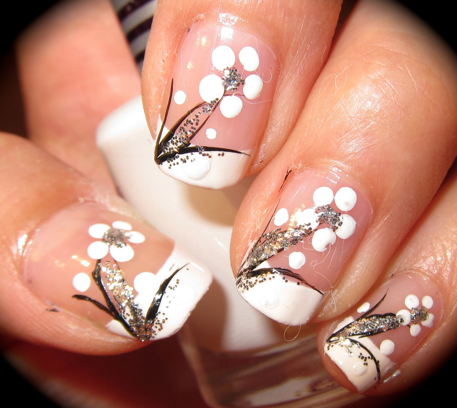 11 Black And White Simple Nail Designs Images