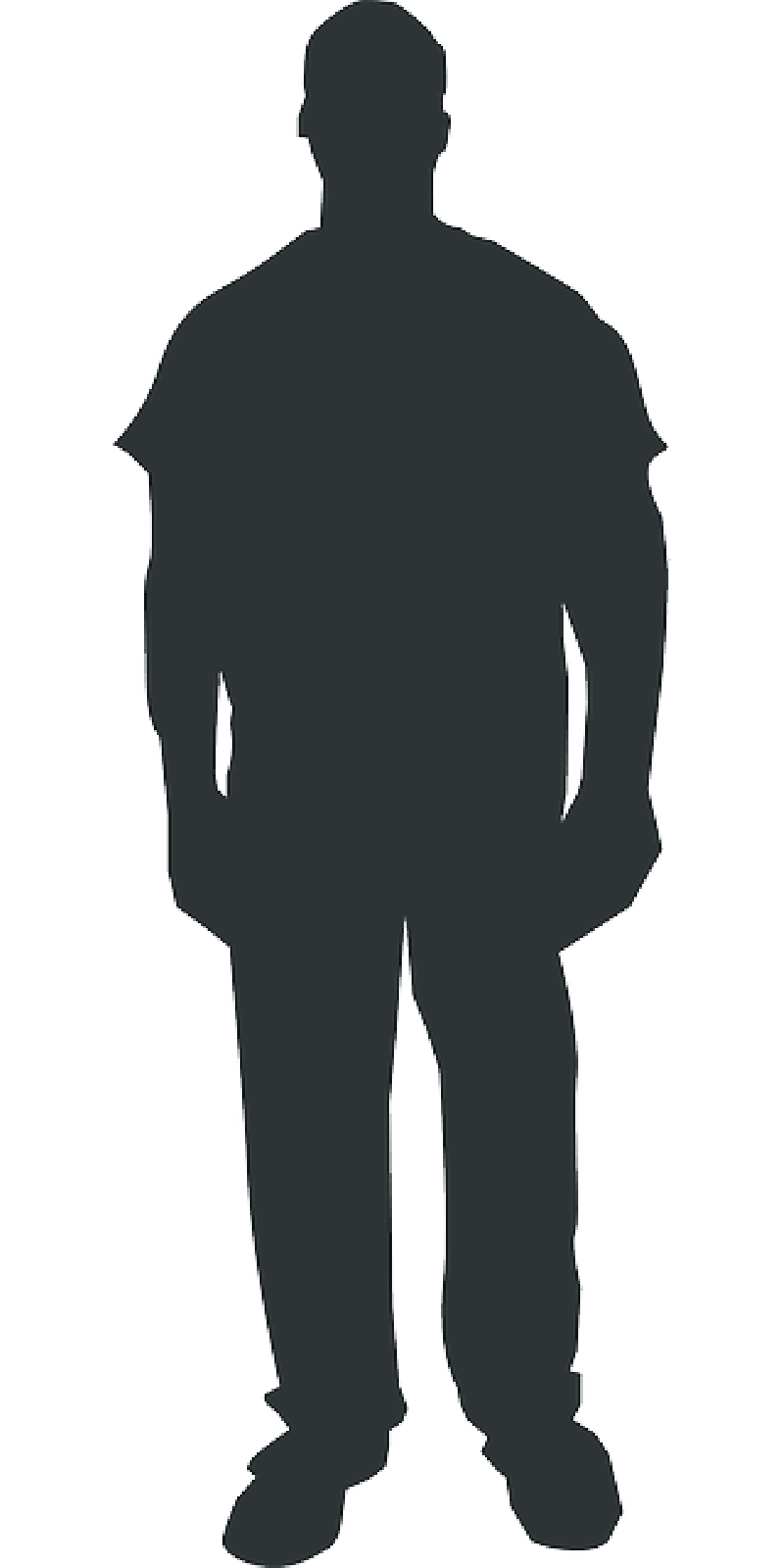 Black Human Outline