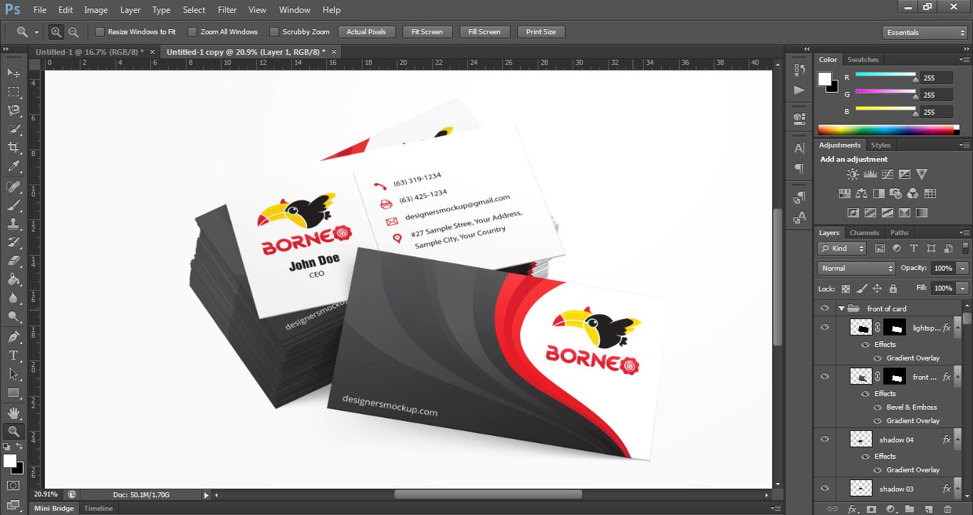 Business card design tutorial business card ideas etadamfo beautiful business card design in photoshop images business card baditri Images