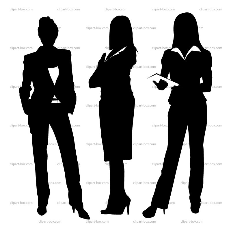 Businesswoman Silhouette Clip Art