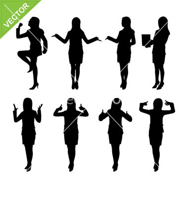 Businesswoman Silhouette Vector Free