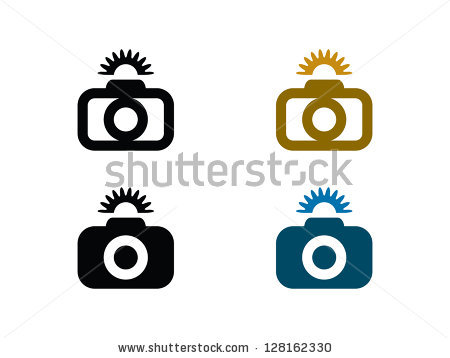 Camera with Flash Vector