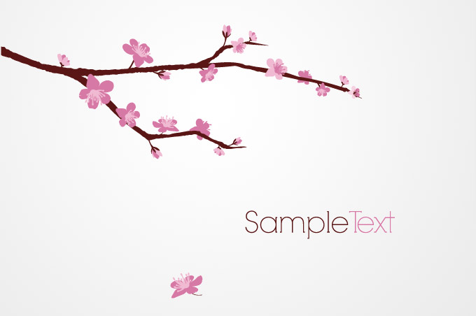 13 Cherry Blossom Tree Vector Images