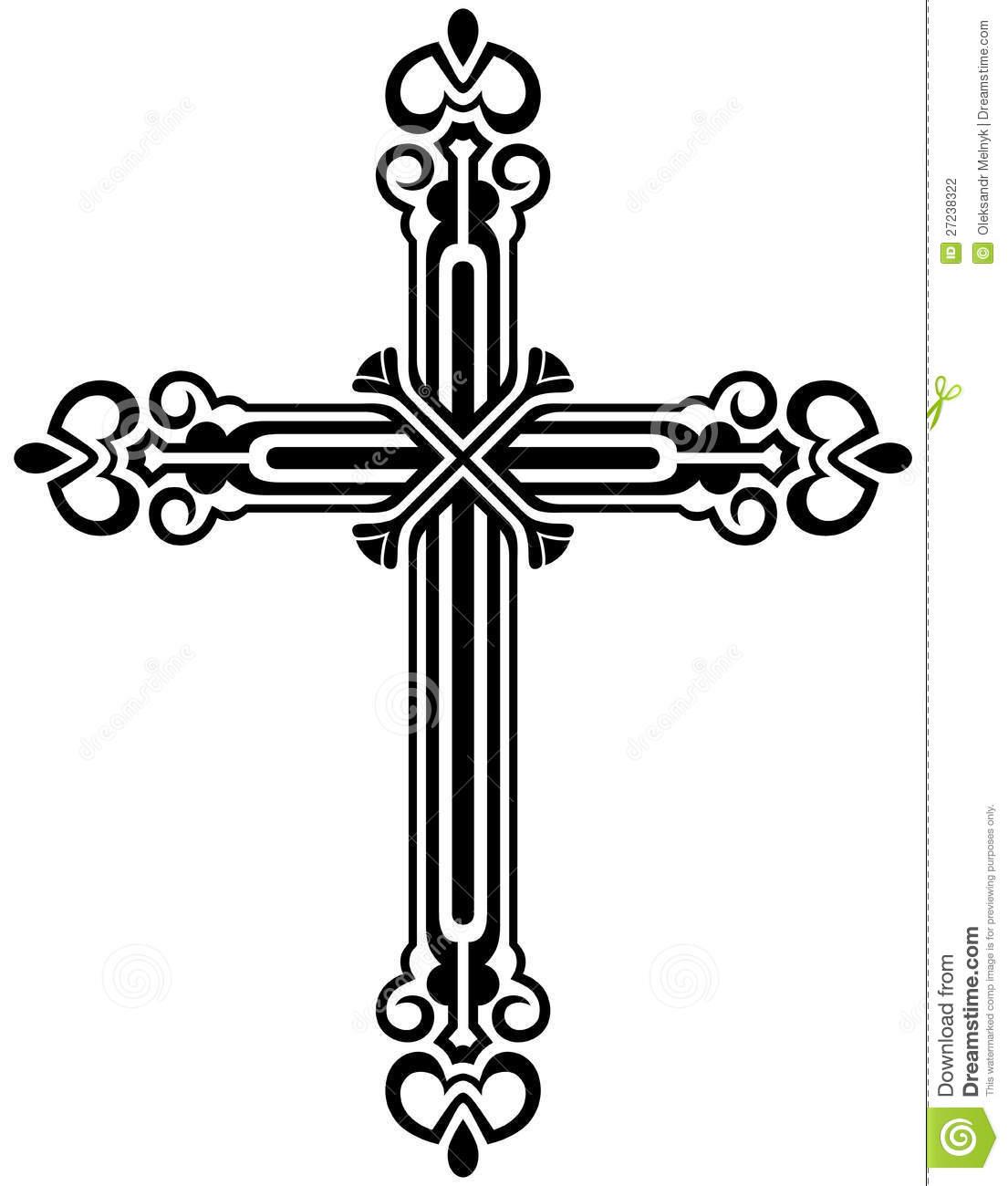 Christian Cross Designs Clip Art