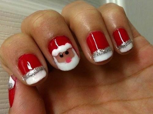 13 Christmas Designs For Short Nails Images Short Christmas Nail