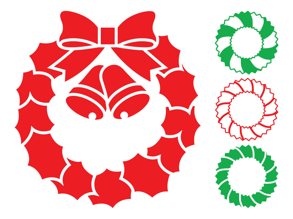 Christmas Wreath Silhouette.14 Wreaths Silhouette Vectors Free Images Christmas Wreath