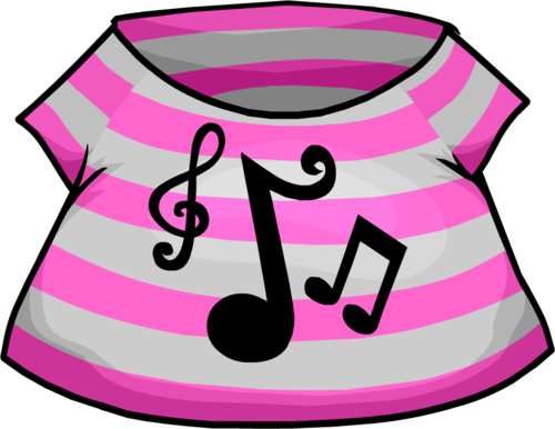 Club Penguin Music Shirt