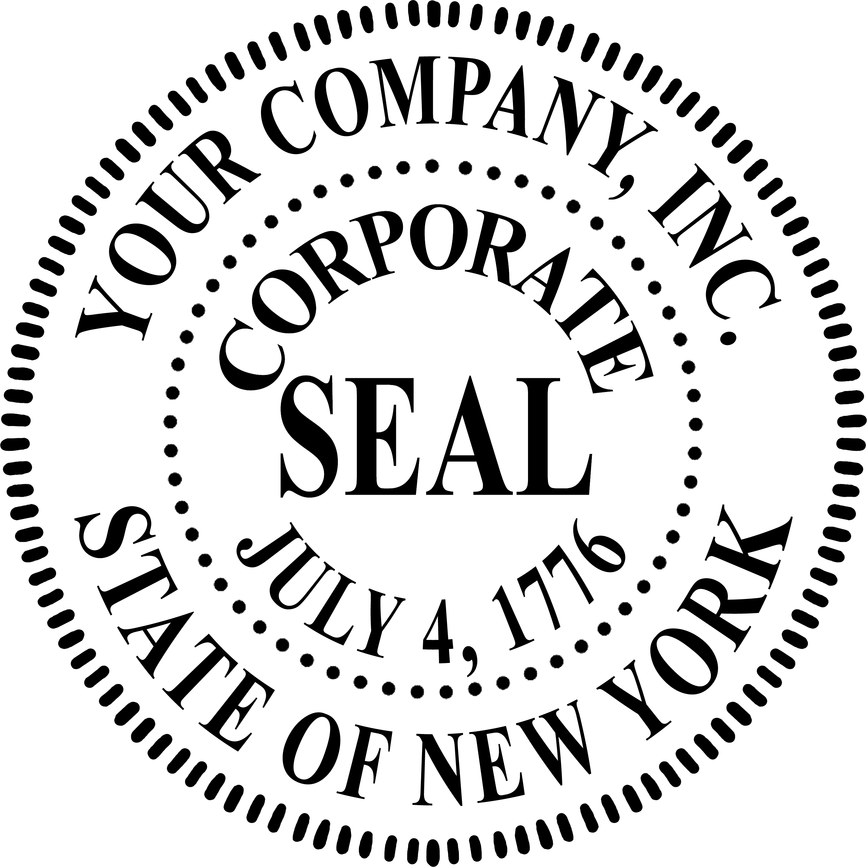 Corporate Seal Stamp Template