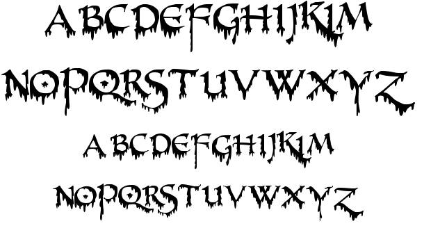 Creepy Fonts