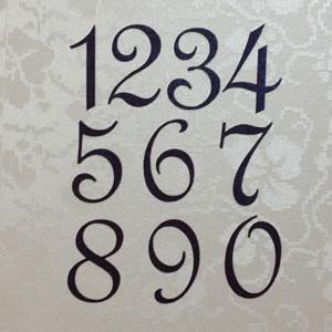 cursive number fonts