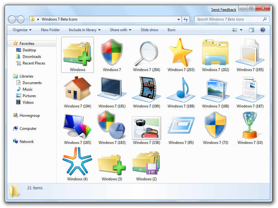 Download Windows 7 Icon Packs