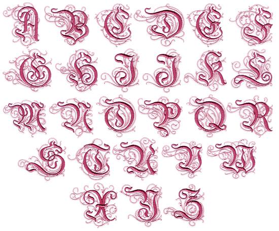 Elegant Font Alphabet