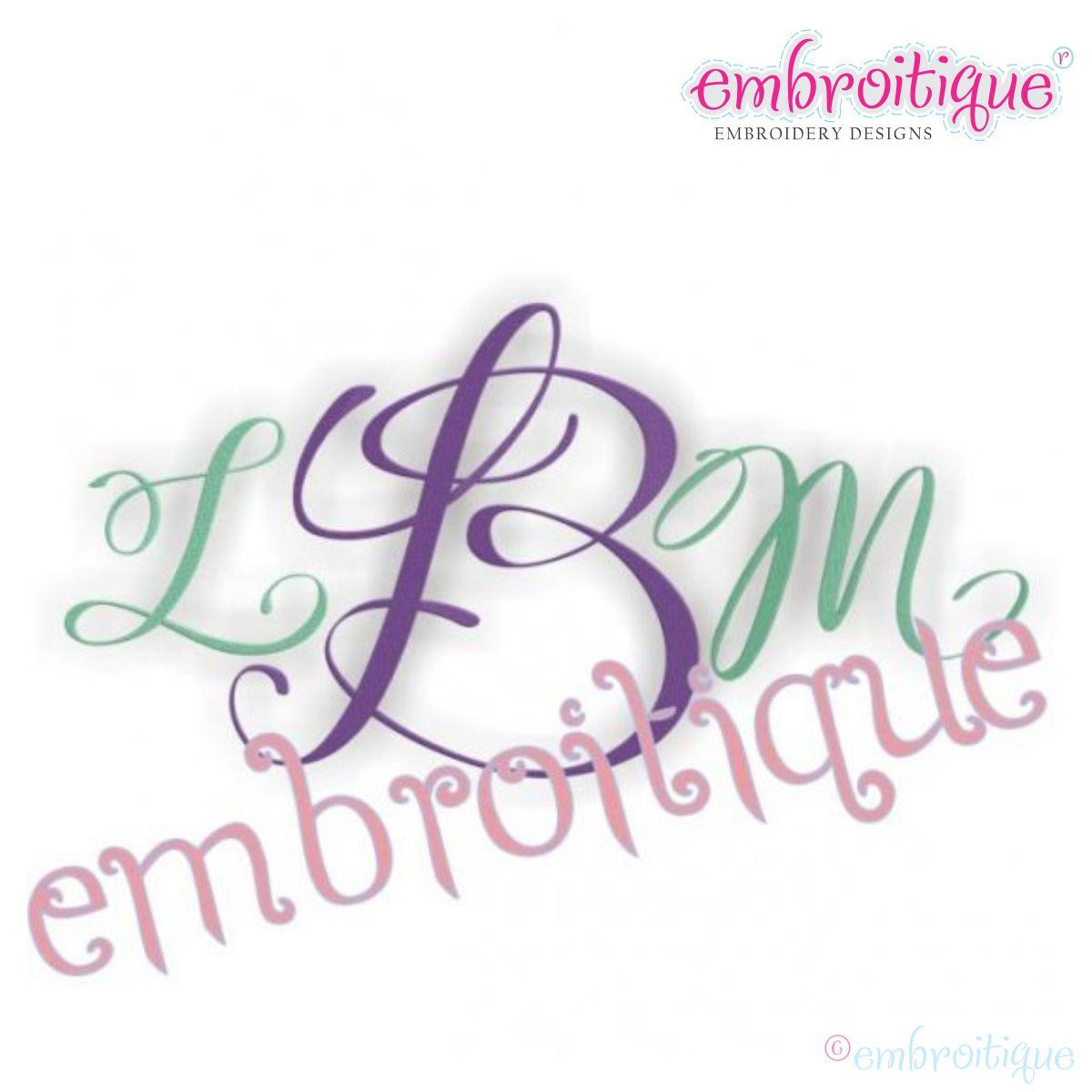 11 elegant monogram font images