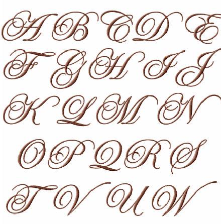 Elegant Letter Fonts Alphabet