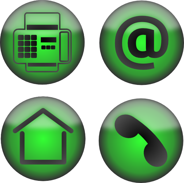 Email Phone and Fax Icon Clip Art Free
