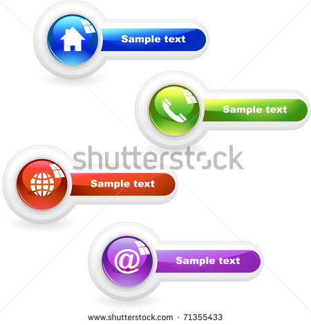 Email Phone Website Icons Home