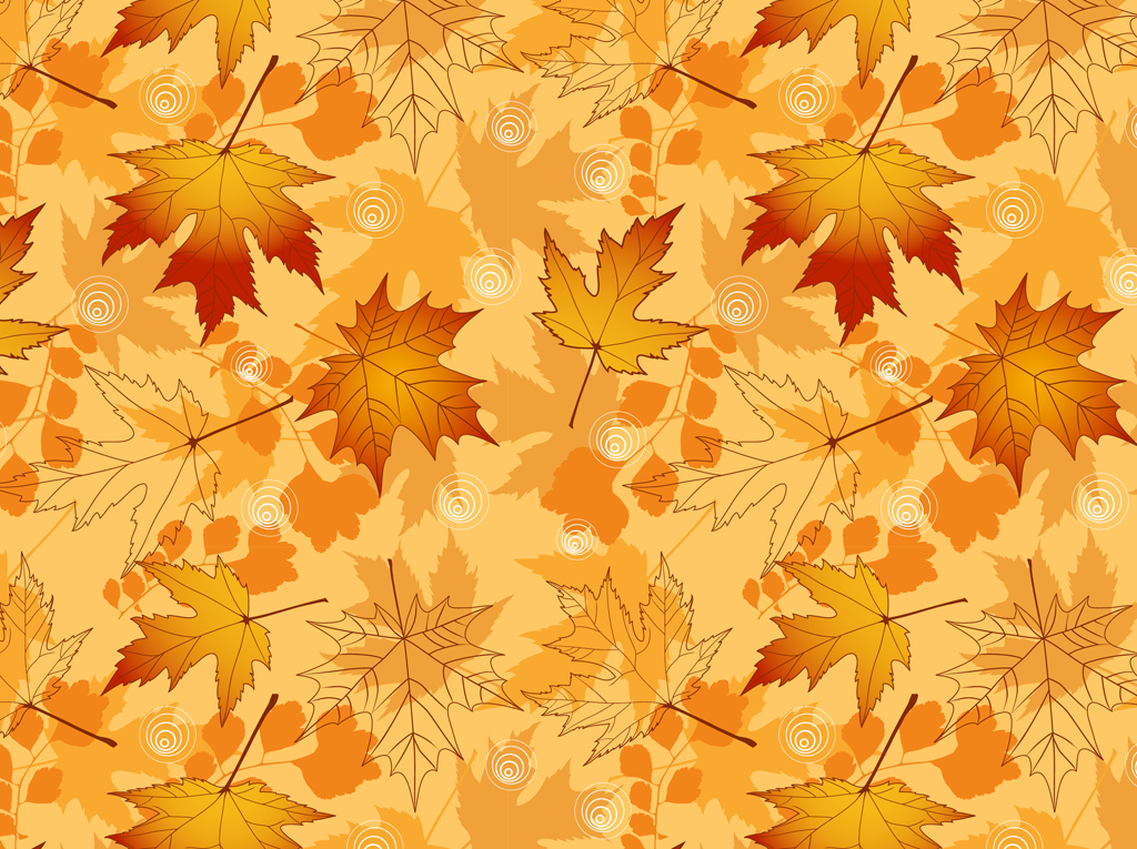 17 Fall Leaf Pattern Vector Images